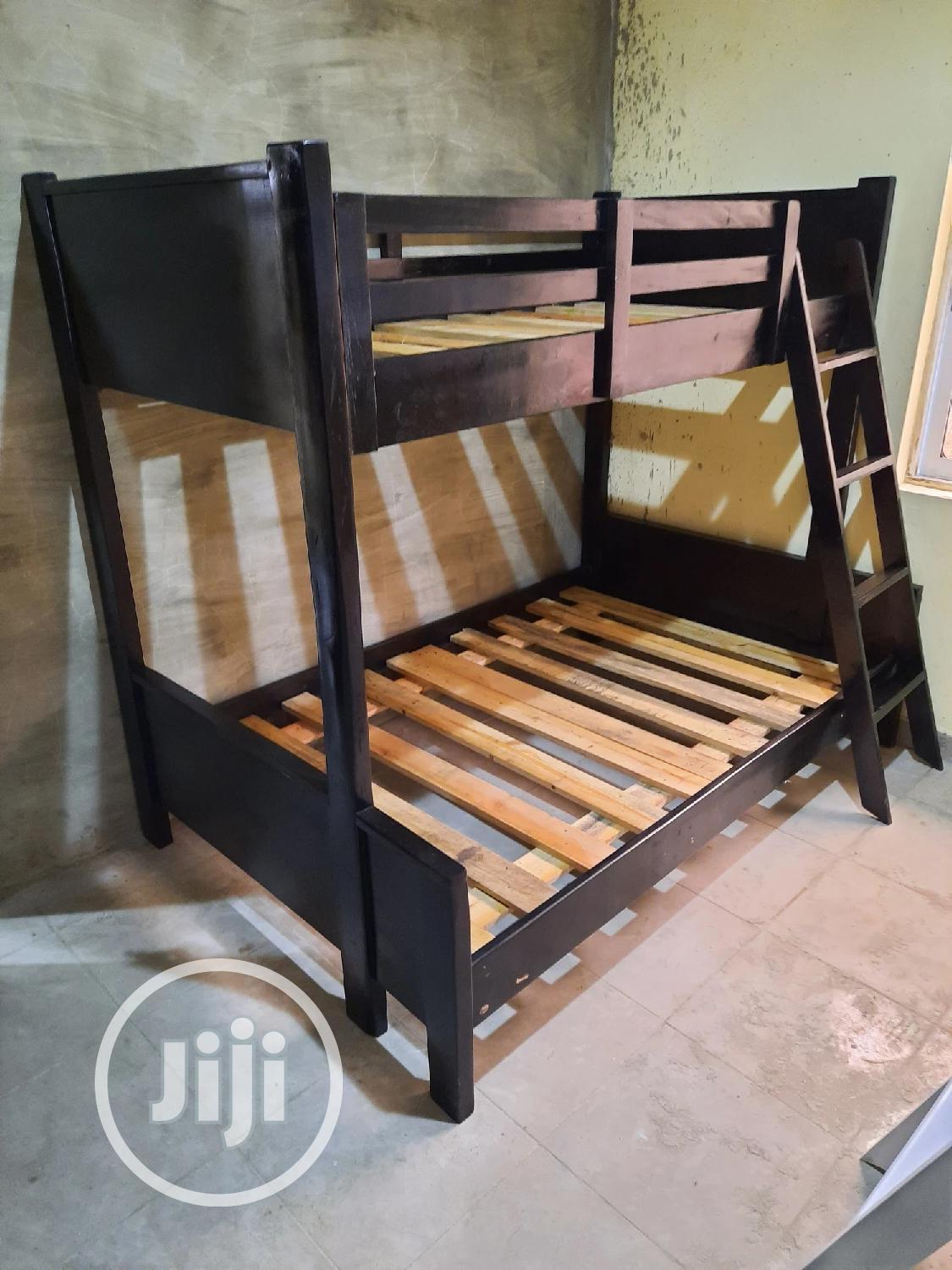 4feet Down 3ft Up .Quality Wooden Bunk | Furniture for sale in Ojo, Lagos State, Nigeria