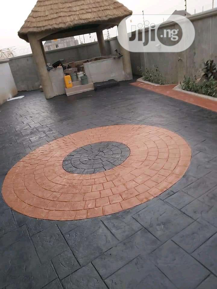 Floor Stamped Concrete Flooring | Building & Trades Services for sale in Karu, Abuja (FCT) State, Nigeria
