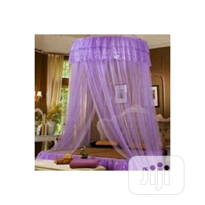 Net Conical Ceiling Hanging Mosquito Net Purple
