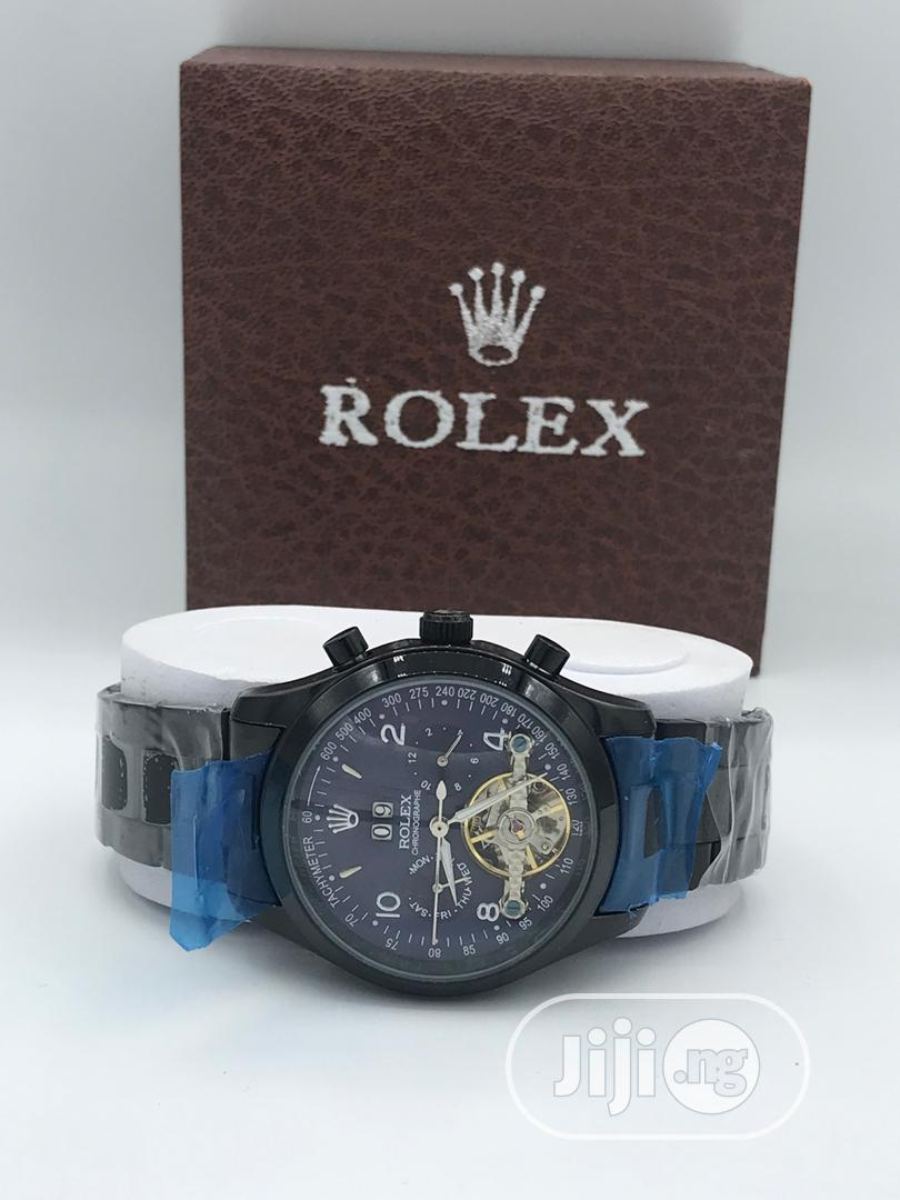 Archive: Black Rolex Mechanical Watch