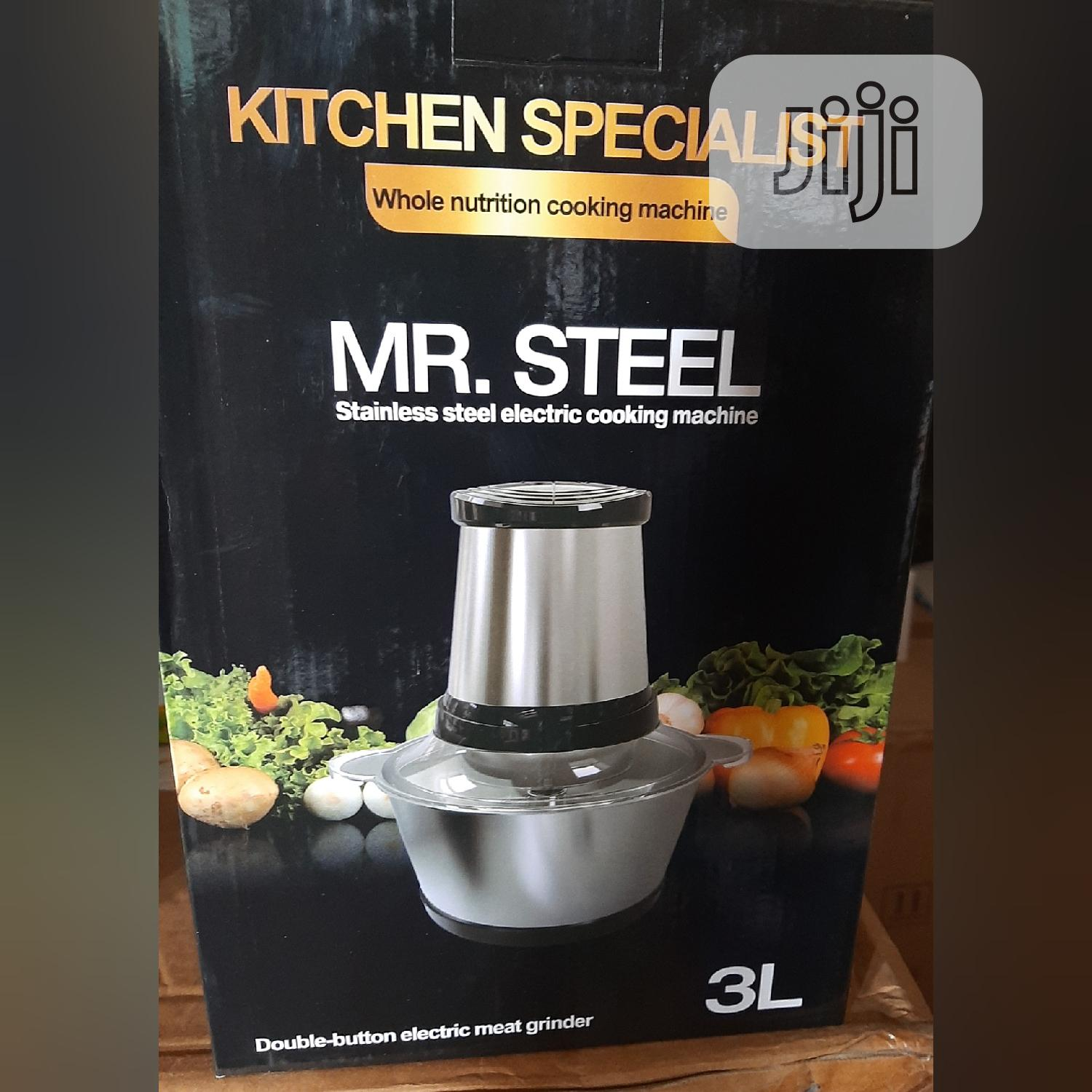 3L Stainless Mr Steel Electric Food Processor / Yam Pounder | Kitchen Appliances for sale in Lagos Island (Eko), Lagos State, Nigeria