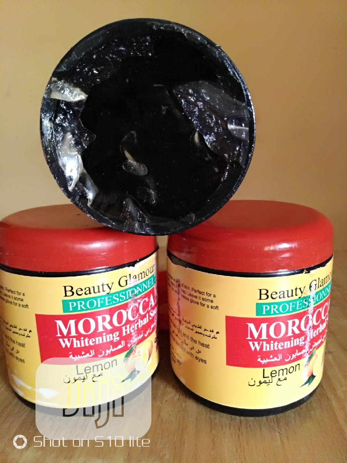 Morrocan Whitening Herbal Black Soap | Bath & Body for sale in Alimosho, Lagos State, Nigeria