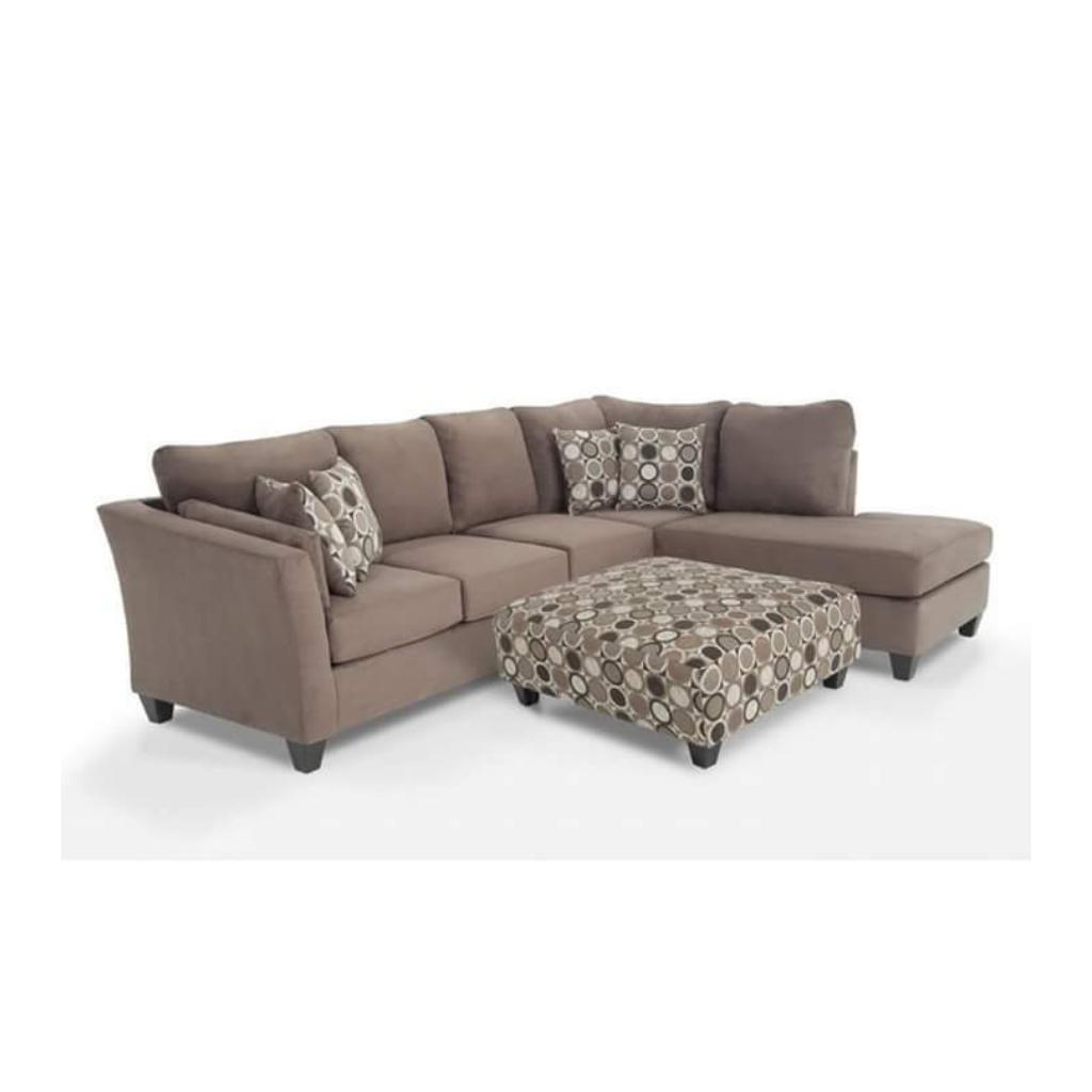 L Shaped Fabric Sofa Chair With Throw Pillows | Home Accessories for sale in Alimosho, Lagos State, Nigeria
