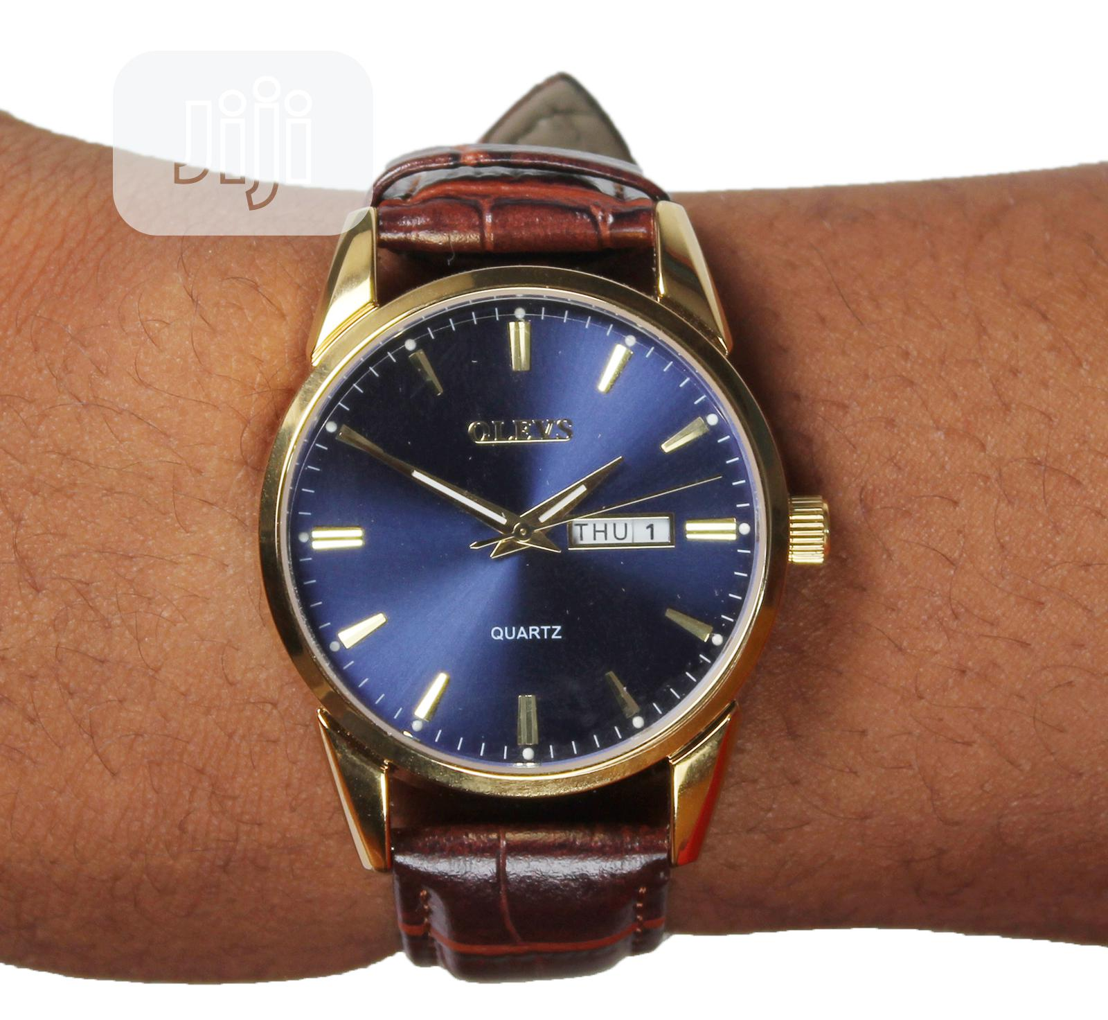 Genuine Leather Wrist Watch | Watches for sale in Ikeja, Lagos State, Nigeria