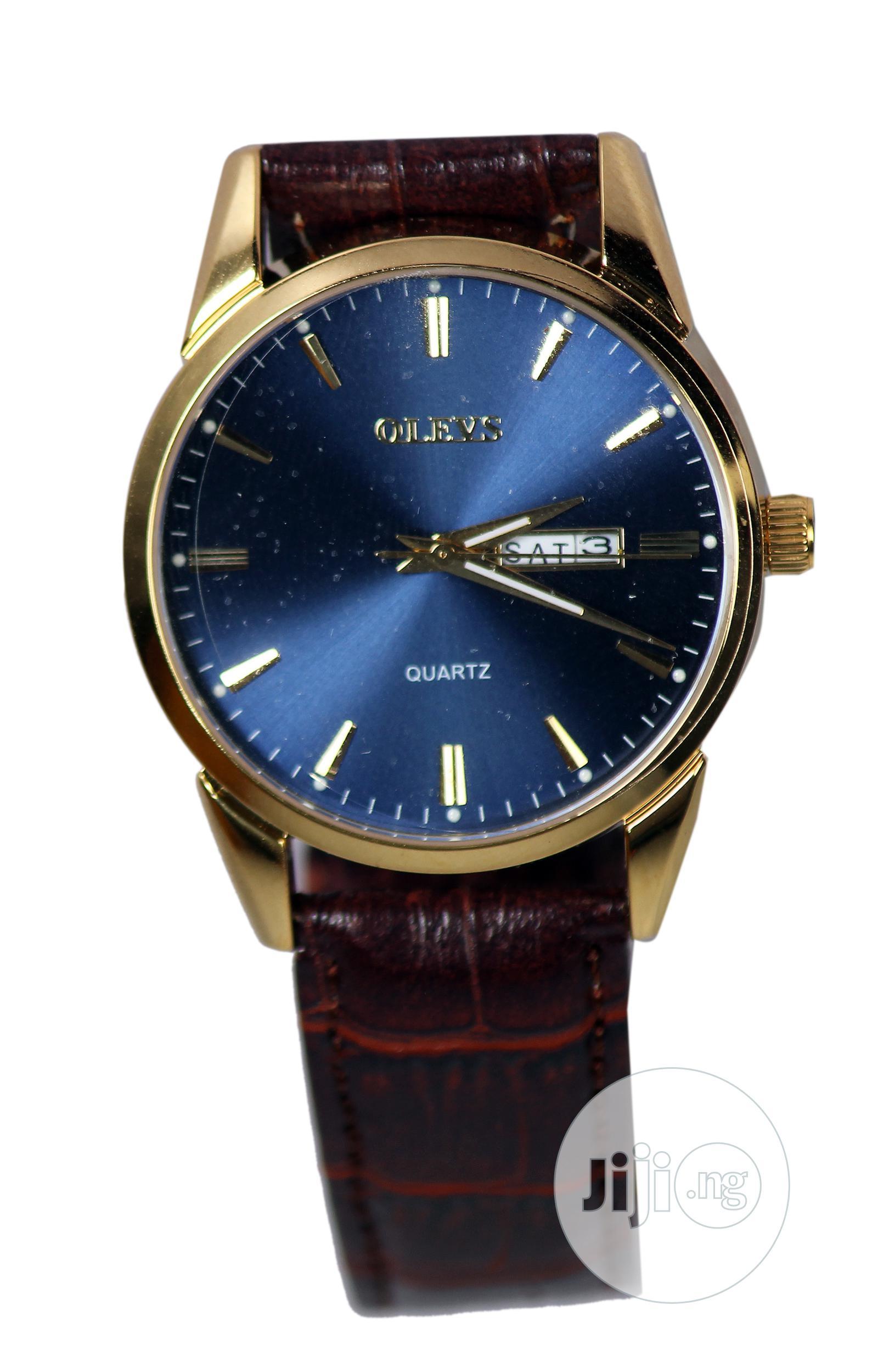 Genuine Leather Wrist Watch