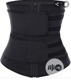 Black Waist Trainer Double Belt | Clothing Accessories for sale in Lagos State, Ifako-Ijaiye
