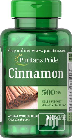 Puritan's Pride Cinnamon 500 Mg, 100 Caps   Vitamins & Supplements for sale in Lagos State, Lekki