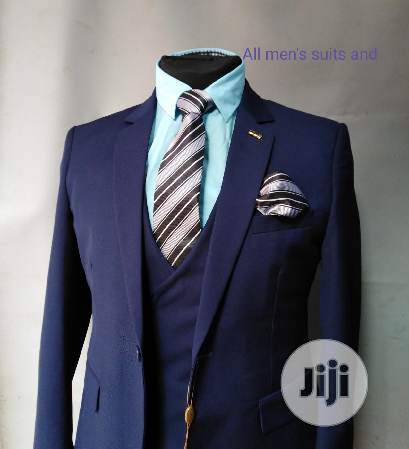 Navy Blue 3pieces Suit | Clothing for sale in Yaba, Lagos State, Nigeria