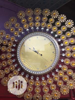 Gold Large Wall Clock | Home Accessories for sale in Lagos State, Agege