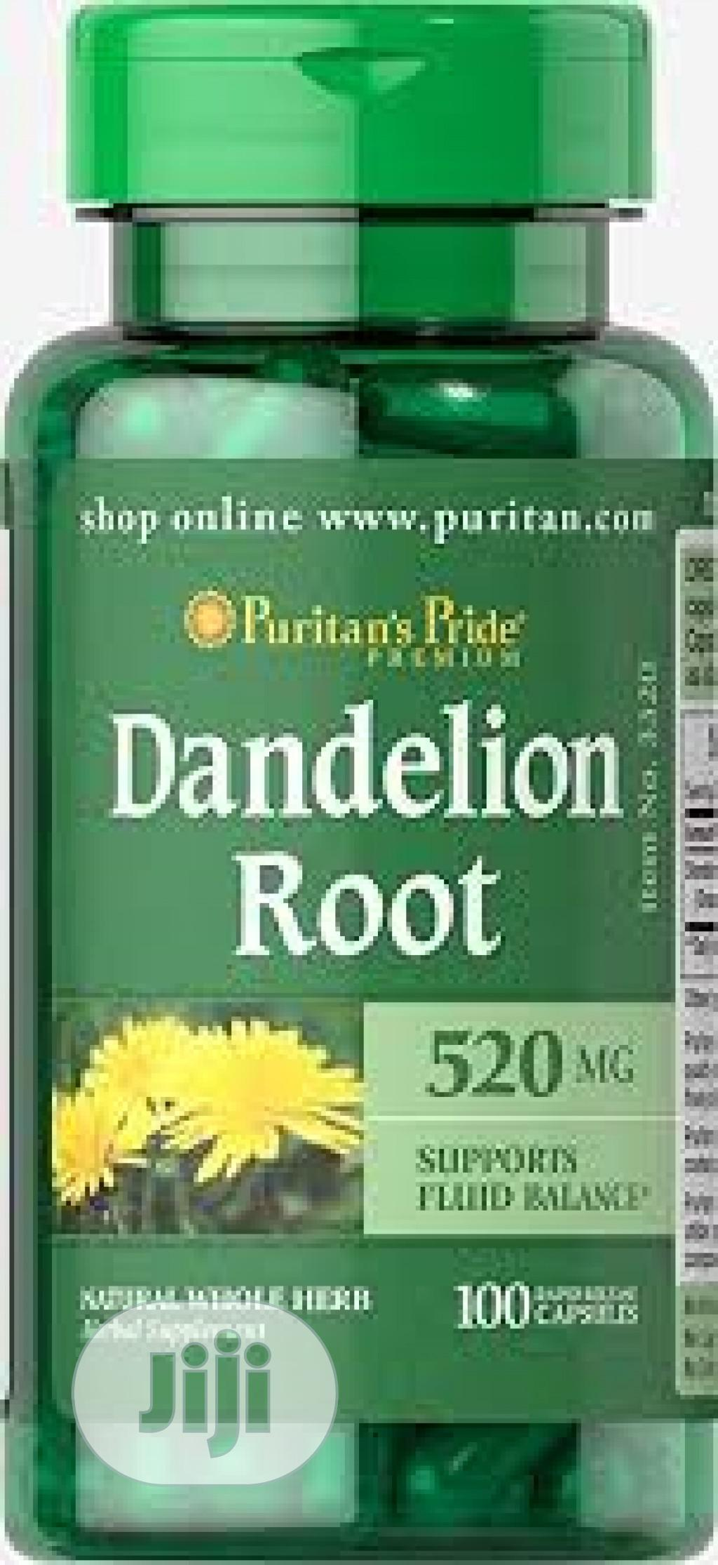 Dandelion Root 520 Mg, 100 Capsules
