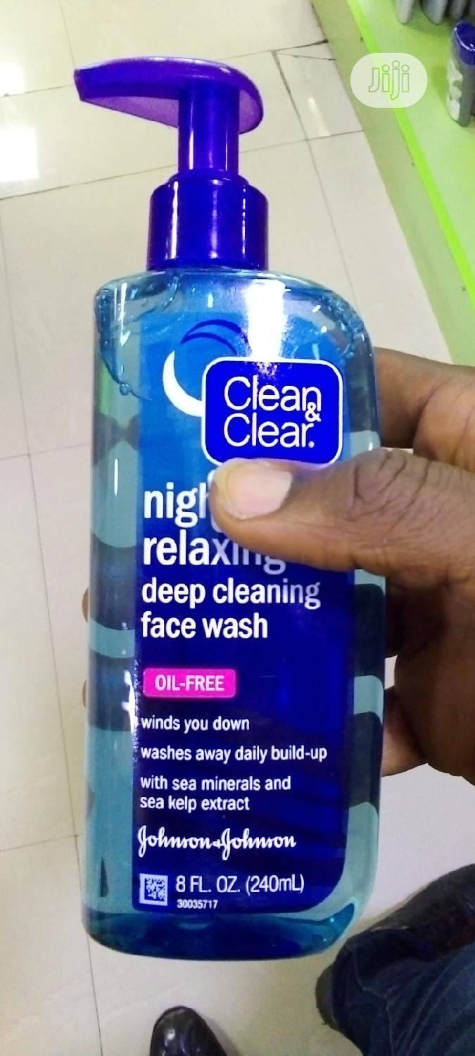 Archive: Clean And Clear Night Relaxing Deep Cleaning Facial Wash