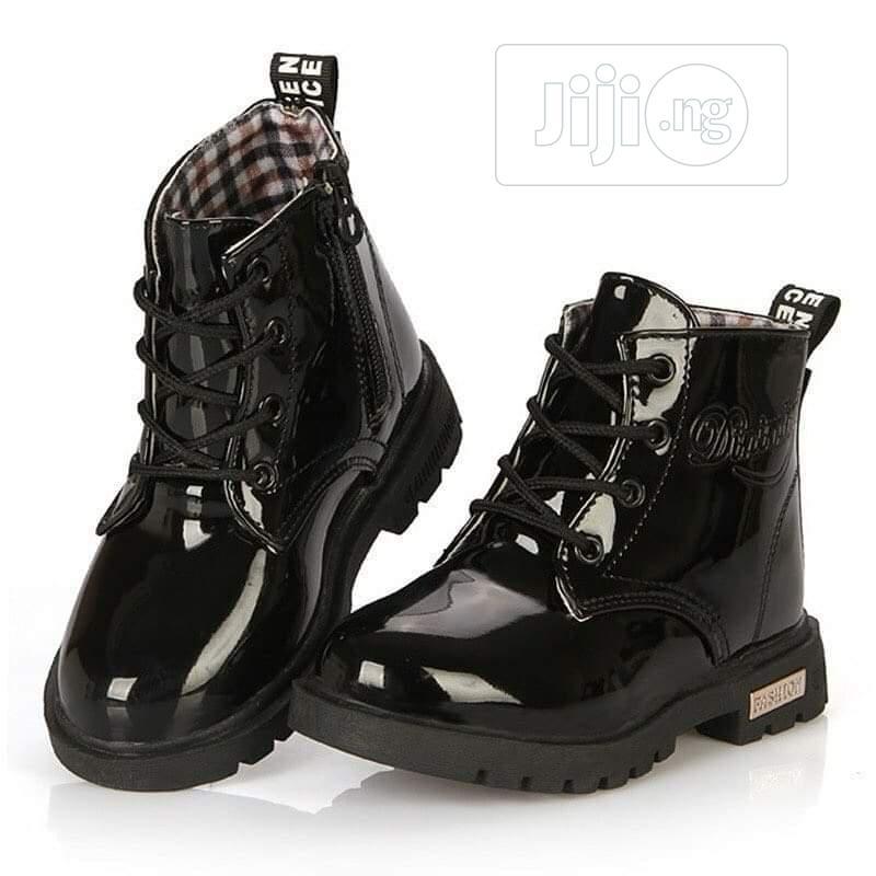 Kidddies Black Wetlips Boots 👢