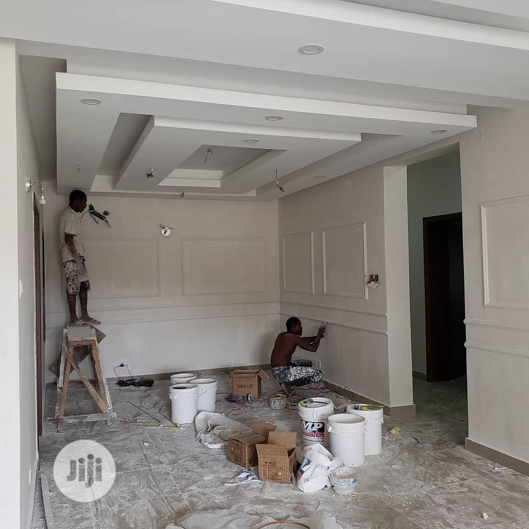 Archive: All Ceiling POP, Inside And Outside Screeding, Tv Stand