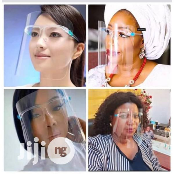 Transparent Face Shield With Glasses Frame