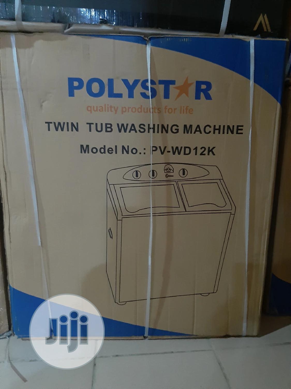 Polystar 12kg Twin Tub Washing Machine