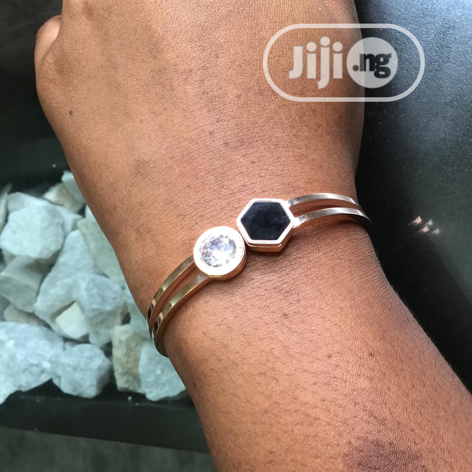 Archive: Gold Plated Studded Bracelets For Ladies, Non Tarnish