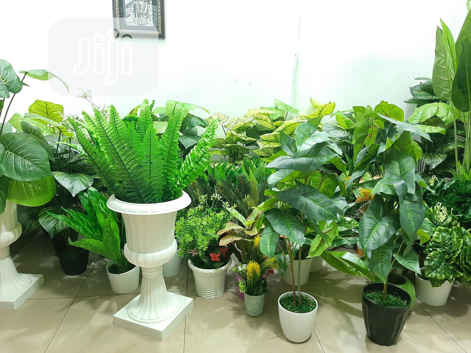 Beautiful Artificial Plants And Decorative Vases Available