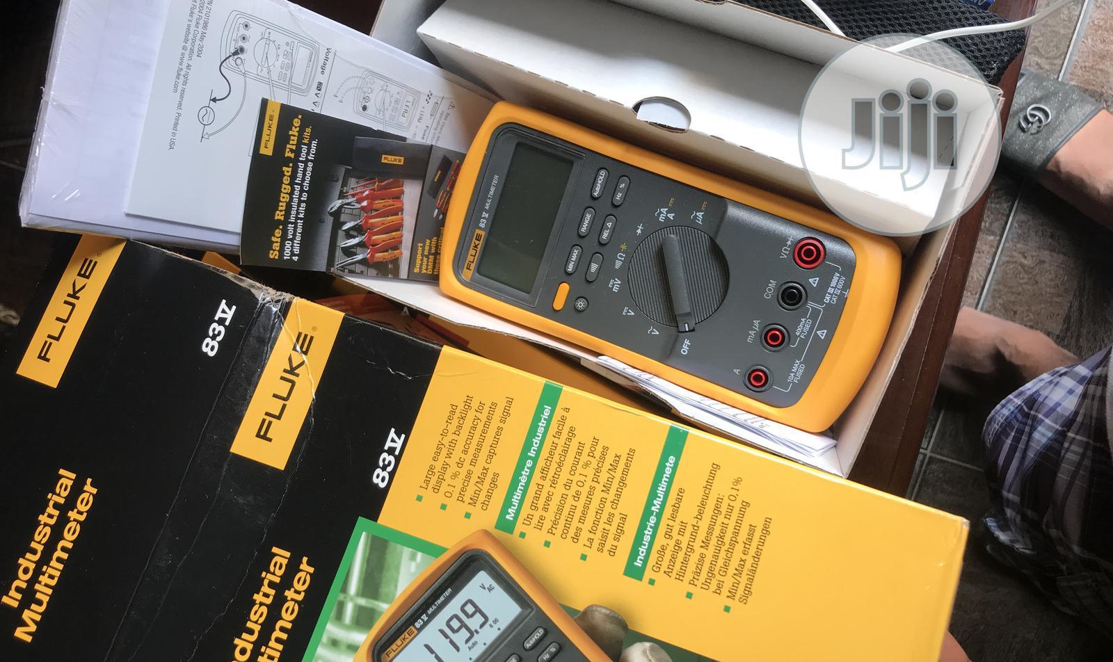 Fluke 83v Industrial Digital Multimeter | Measuring & Layout Tools for sale in Ojo, Lagos State, Nigeria