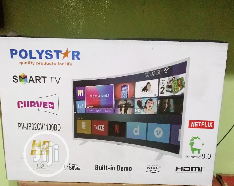 "Polystar PV-JP32CV1100BD 32"" Curved Smart TV"