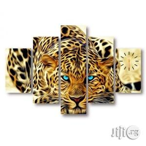 Blue Eyes Leopard Canvas Wall Art Clock   Home Accessories for sale in Lagos State