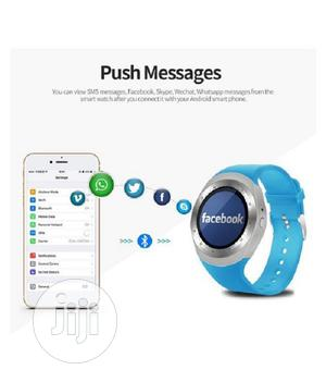 Y1 Android Sim Slot Smartwatch - Blue | Smart Watches & Trackers for sale in Lagos State, Ikeja