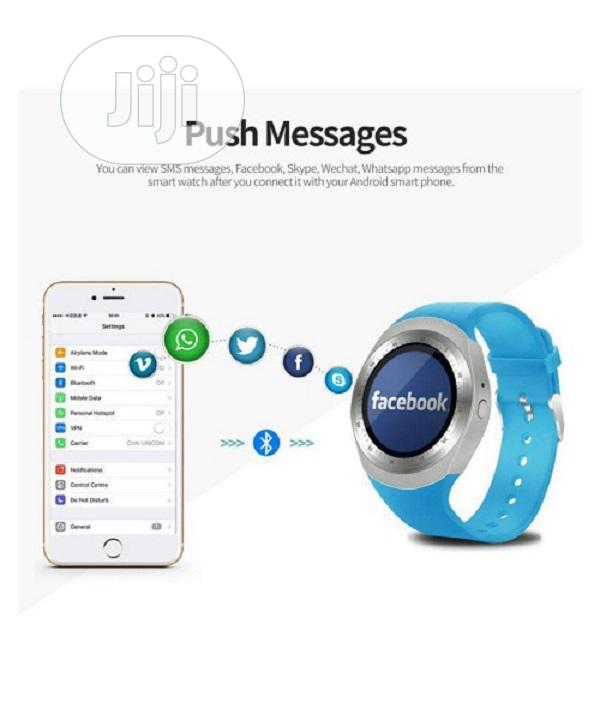 Y1 Android Sim Slot Smartwatch - Blue