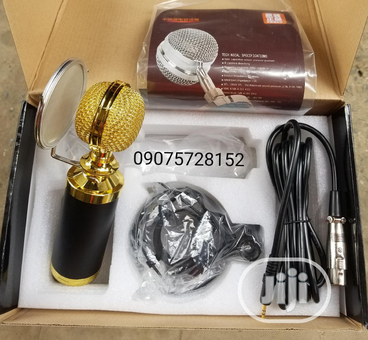 Professional Condenser Mic With Original Portable Pop Filter | Accessories & Supplies for Electronics for sale in Mushin, Lagos State, Nigeria