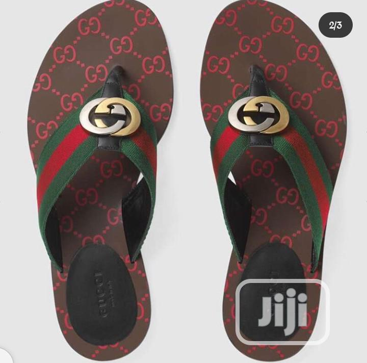 Gucci GG Thong Web Sandal | Shoes for sale in Magodo, Lagos State, Nigeria