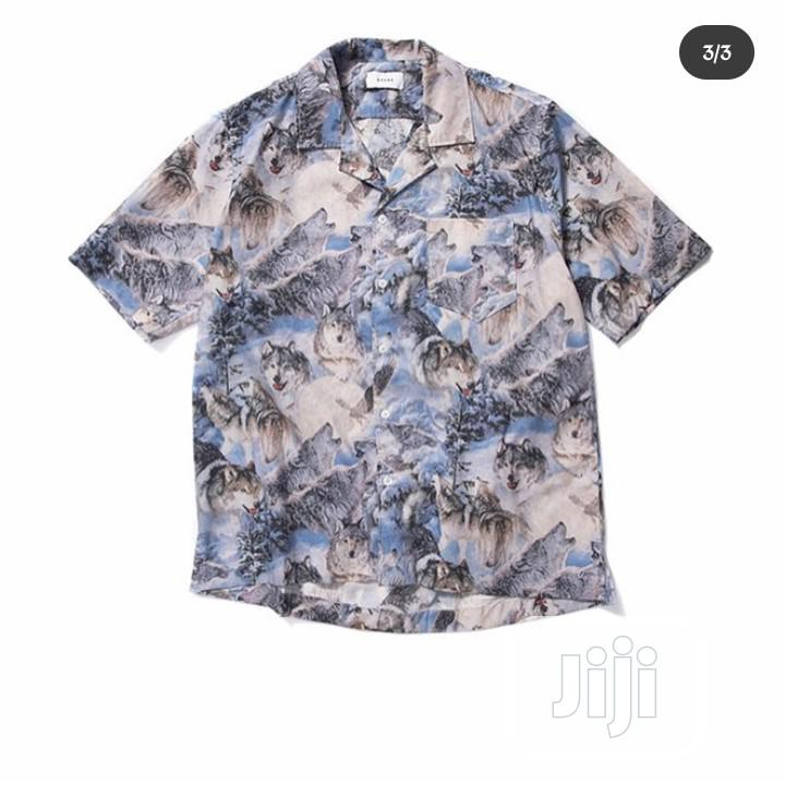 Rhude Wolf Printed Shirt | Clothing for sale in Magodo, Lagos State, Nigeria