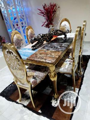 Italian Marble Royal Dinning Table With 6 Chairs   Furniture for sale in Lagos State, Lagos Island (Eko)