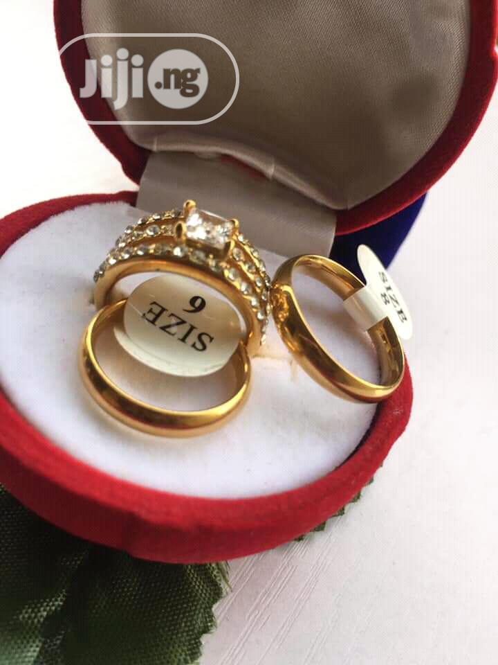 Set of Diamond Wedding Rings