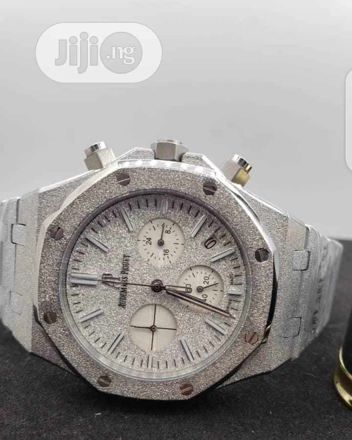 Chain and Leather Wrist Watch