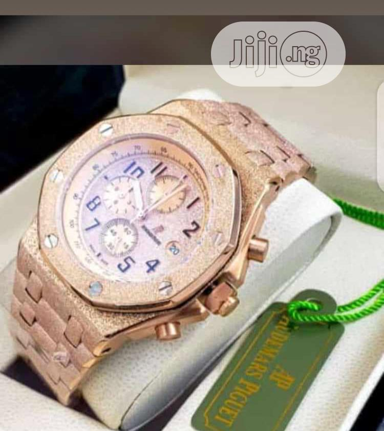Chain and Leather Wrist Watch | Watches for sale in Victoria Island, Lagos State, Nigeria