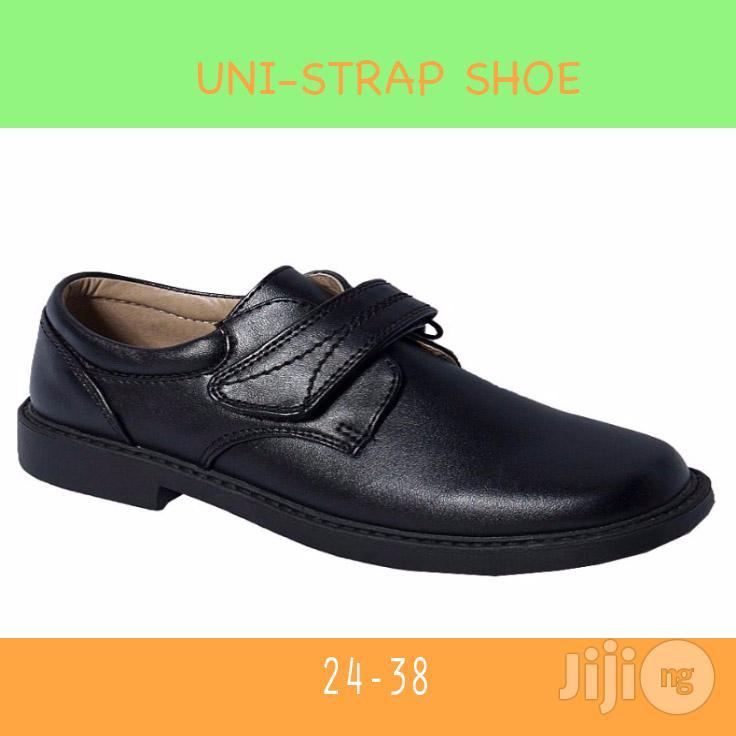 Kids Unistrap Black Shoe