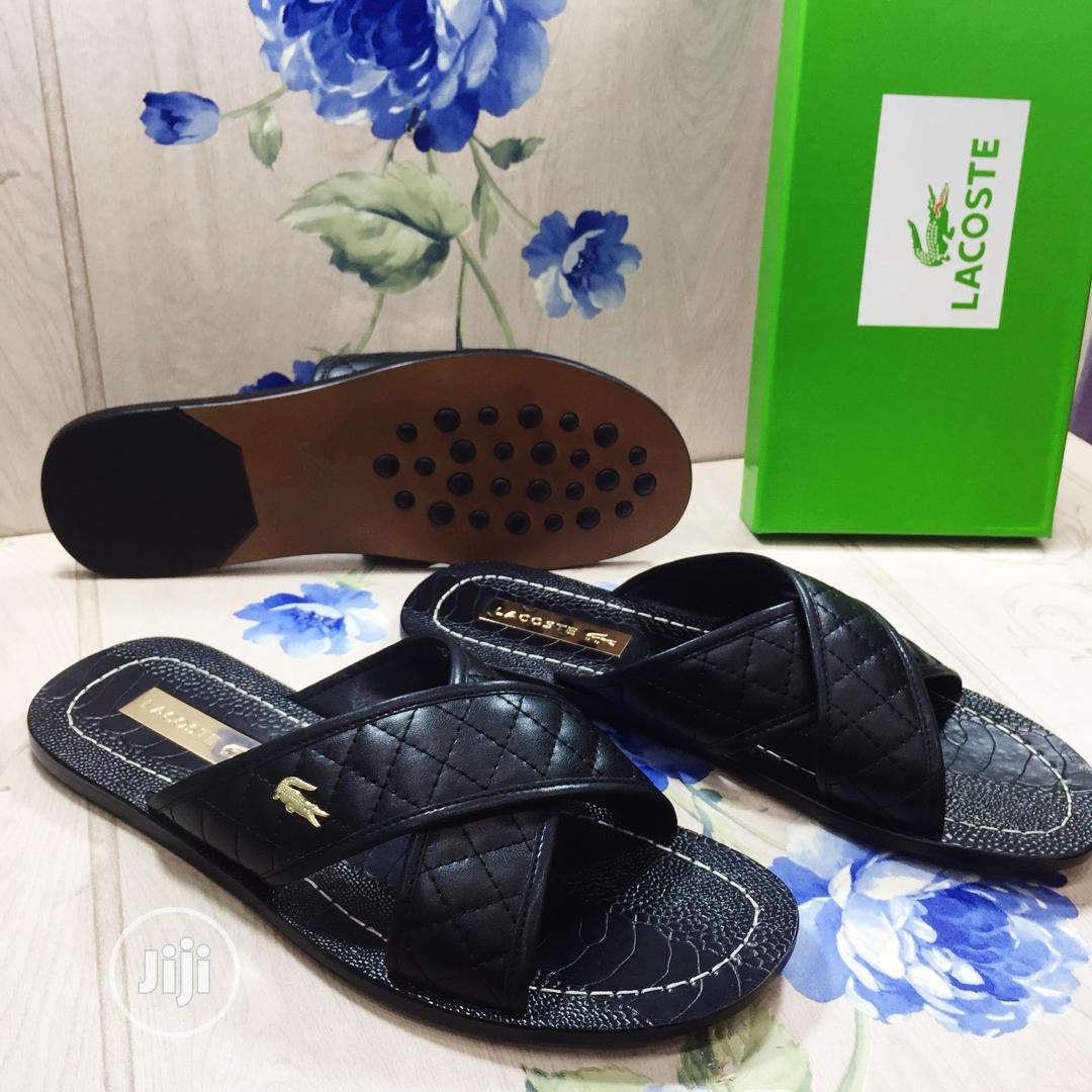 Lacoste Leather Slippers in Lagos