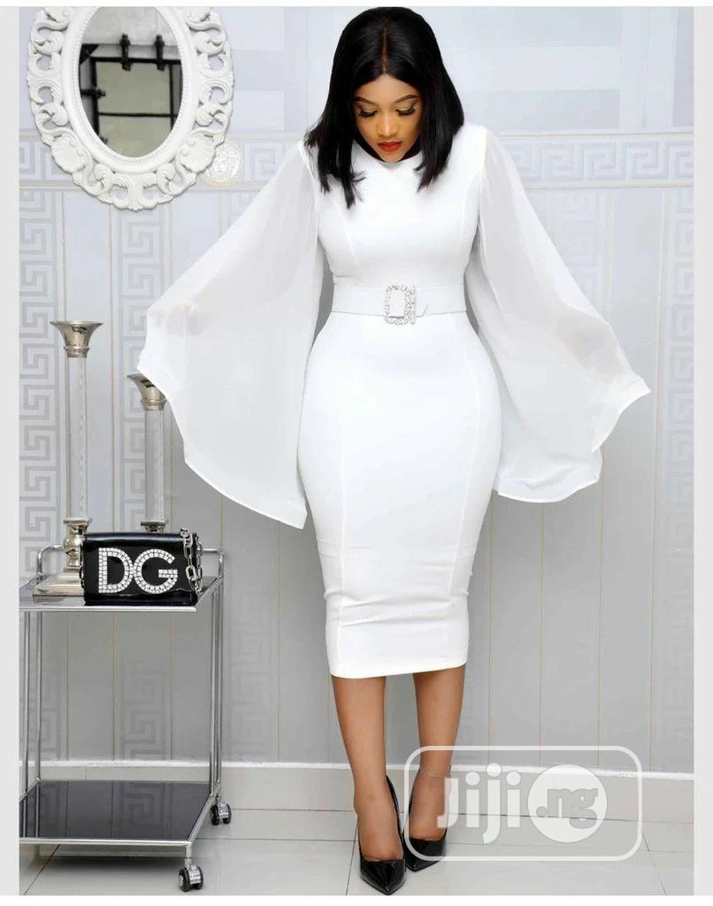 Quality Female White Gown