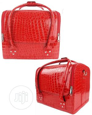 Makeup Bag Red [Leather]   Tools & Accessories for sale in Lagos State, Amuwo-Odofin