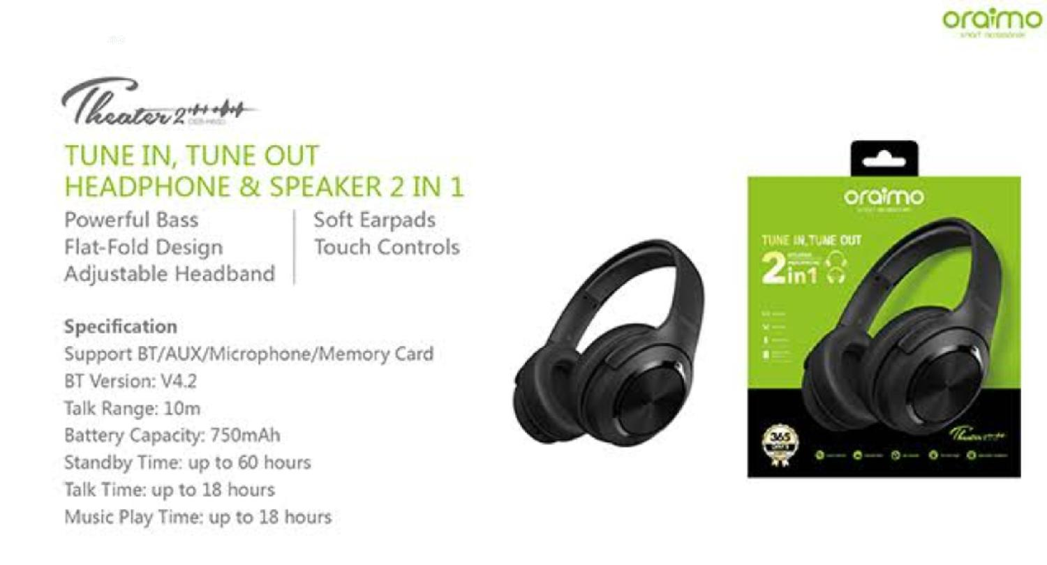 Archive: Oraimo OEB-H85D Wireless Headset in Alimosho - Headphones, Clasicos Hub | Jiji.ng