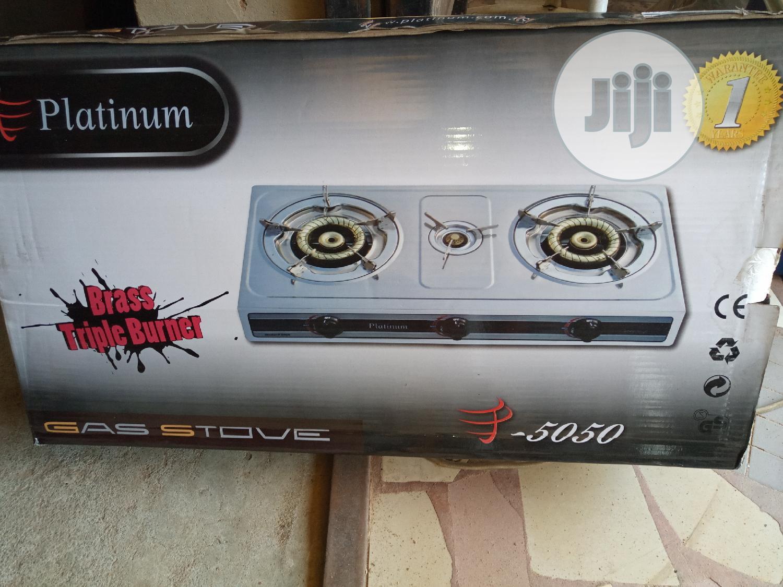 Quality Platinium Table Gas Cooker, No Match Sticks,3 Burner