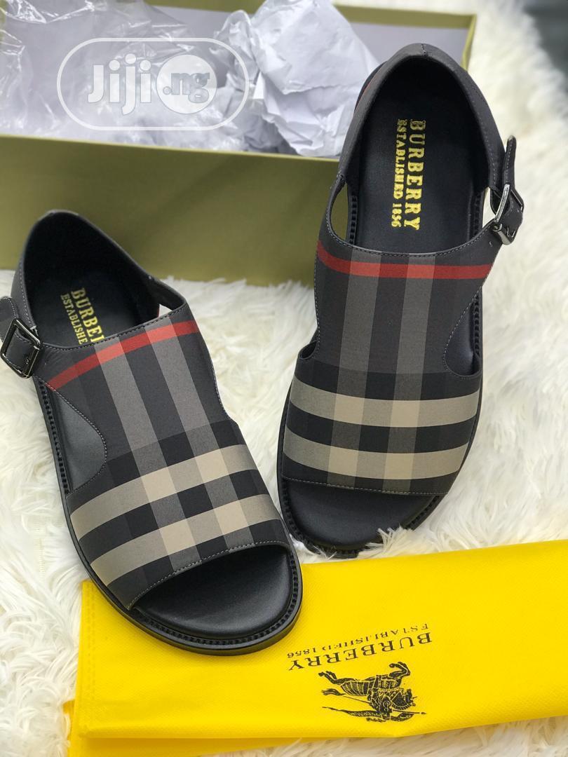 Sleek Burberry Slippers