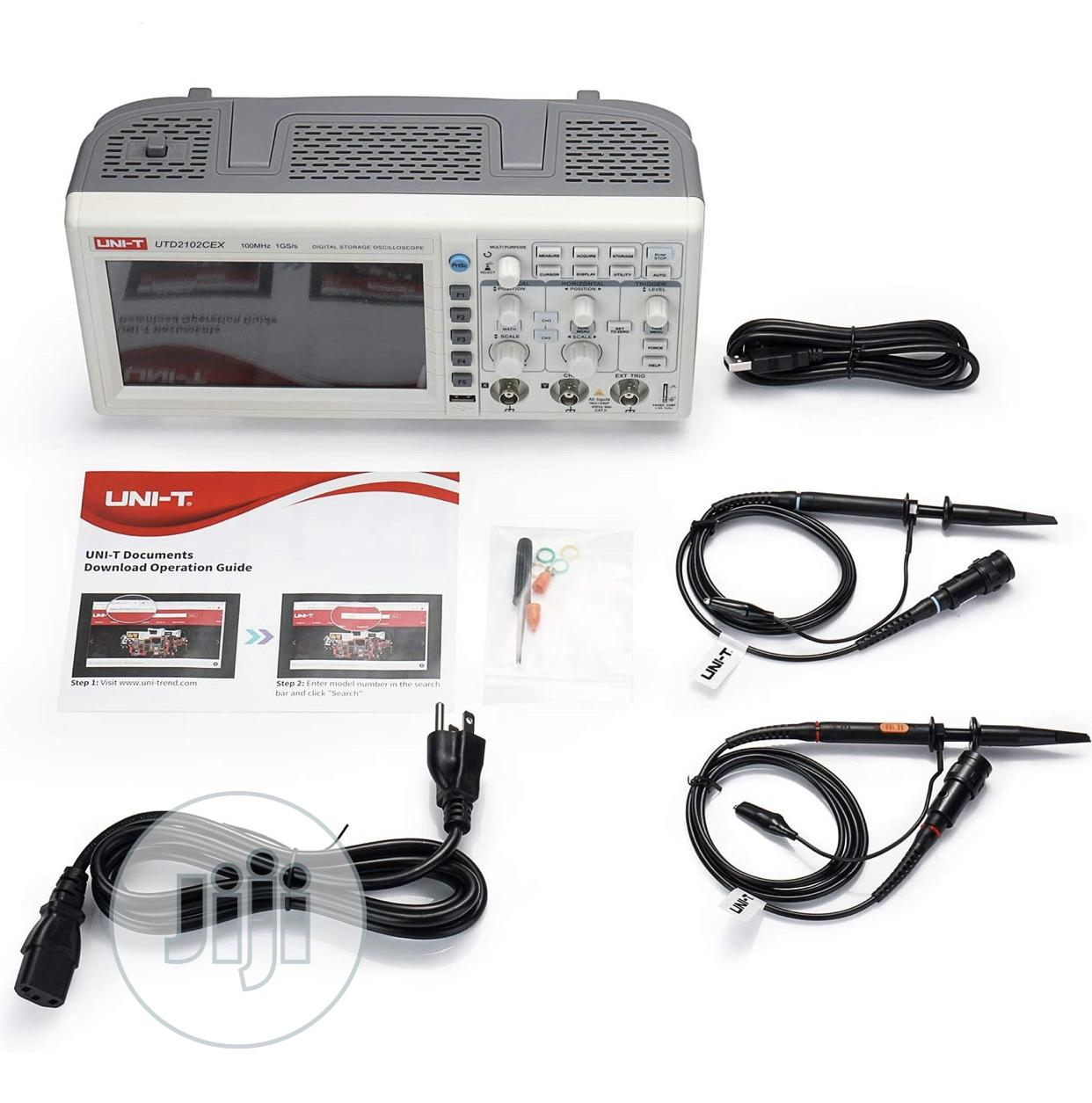 UNI-T UTD2102CEX Digital Oscilloscope, 2 Channel, 100mhz, | Medical Equipment for sale in Ojo, Lagos State, Nigeria