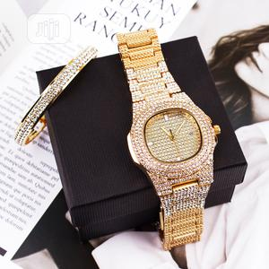 Diamond Ice Stoned Wrist Watch + Bango | Watches for sale in Rivers State, Obio-Akpor