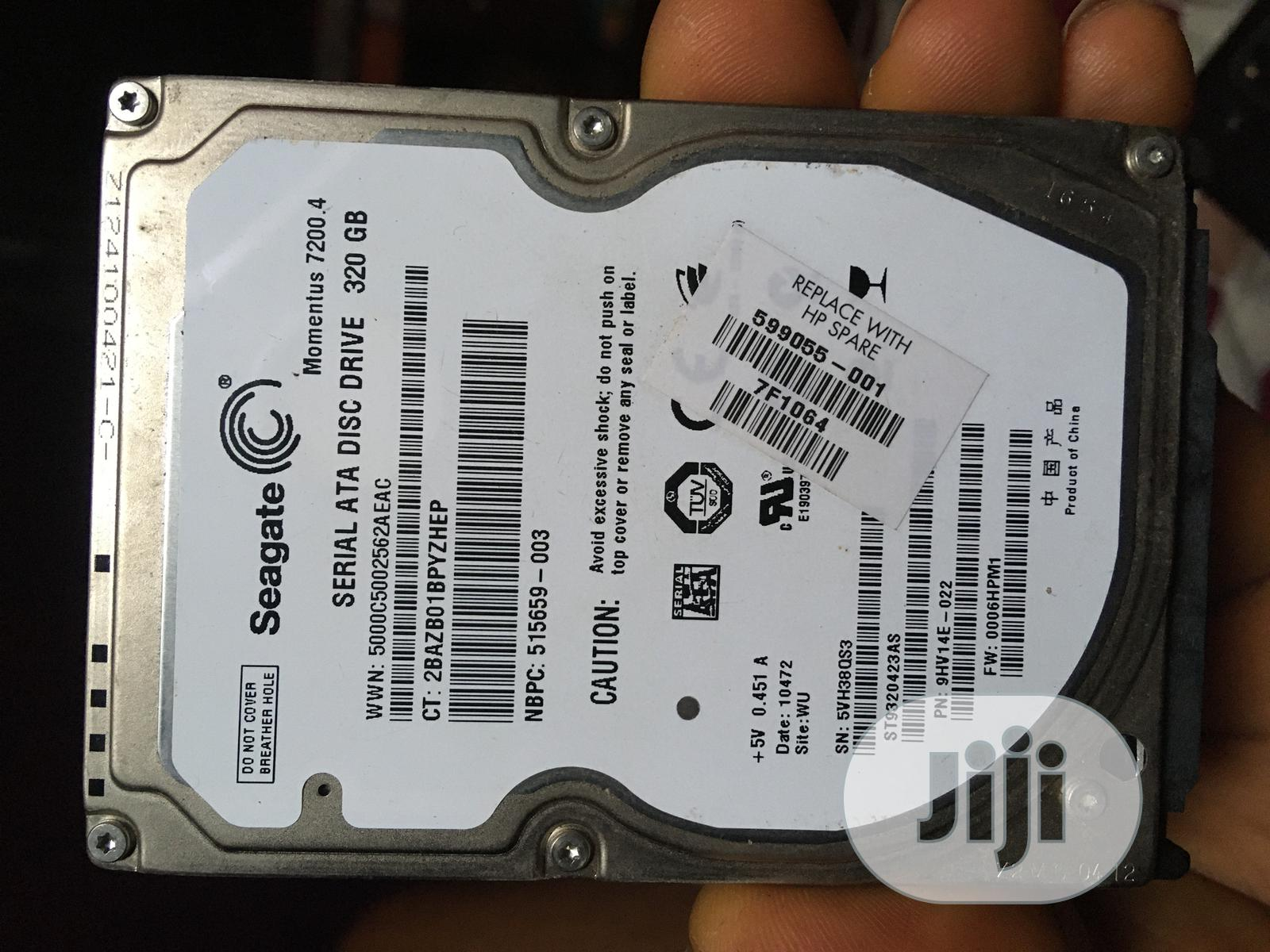 Archive: 320gb Laptop HDD