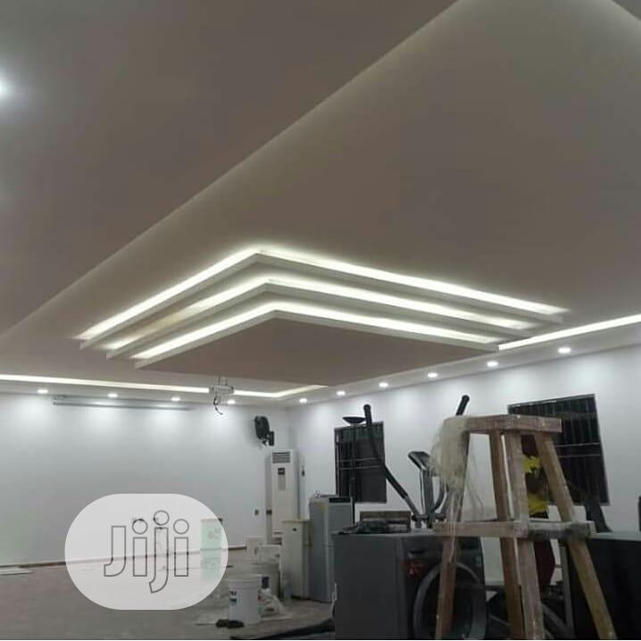 Pop Ceiling Designs And TV Stand, Wall Screeding And Design