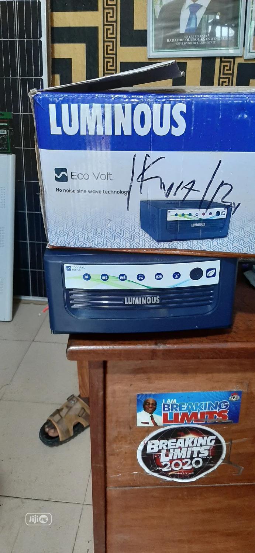 Luminous 1kva 12v Inverter Eco Volt | Solar Energy for sale in Ojo, Lagos State, Nigeria