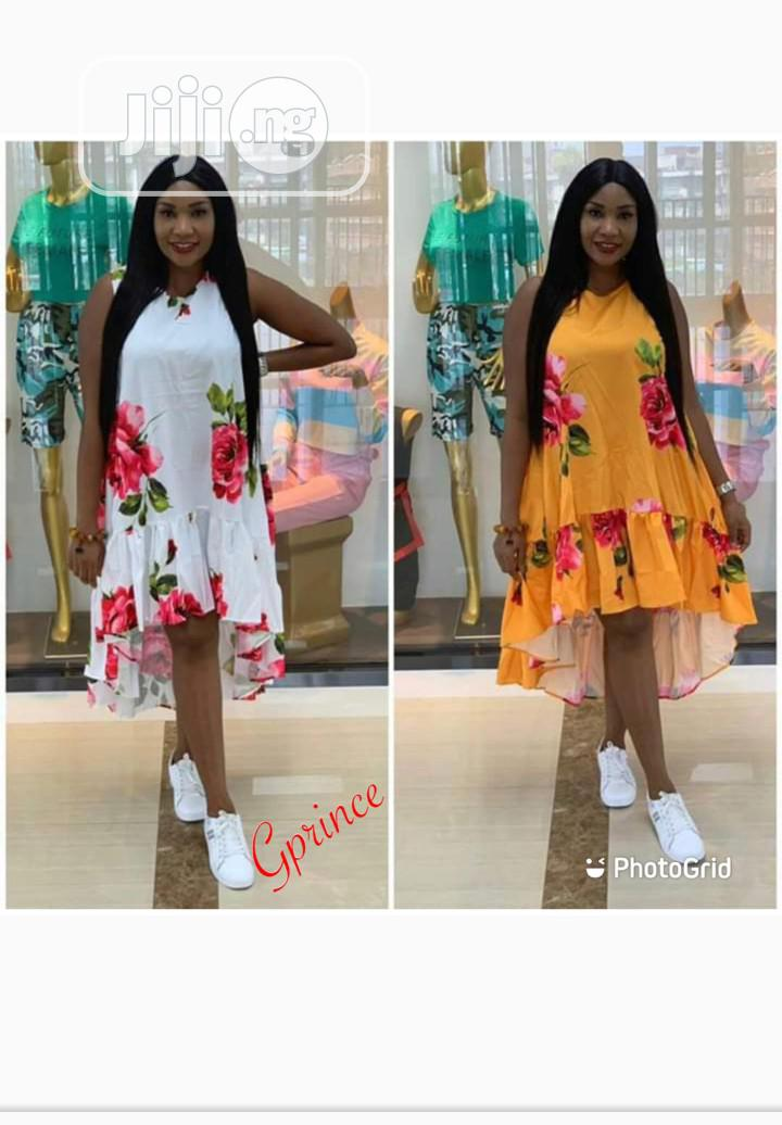 Trendy Floral Print Tail Dress | Clothing for sale in Ikeja, Lagos State, Nigeria
