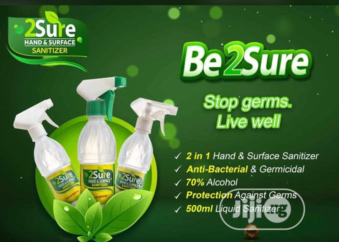 2 Sure Hand and Surface Sanitiser -12 Unit | Skin Care for sale in Surulere, Lagos State, Nigeria