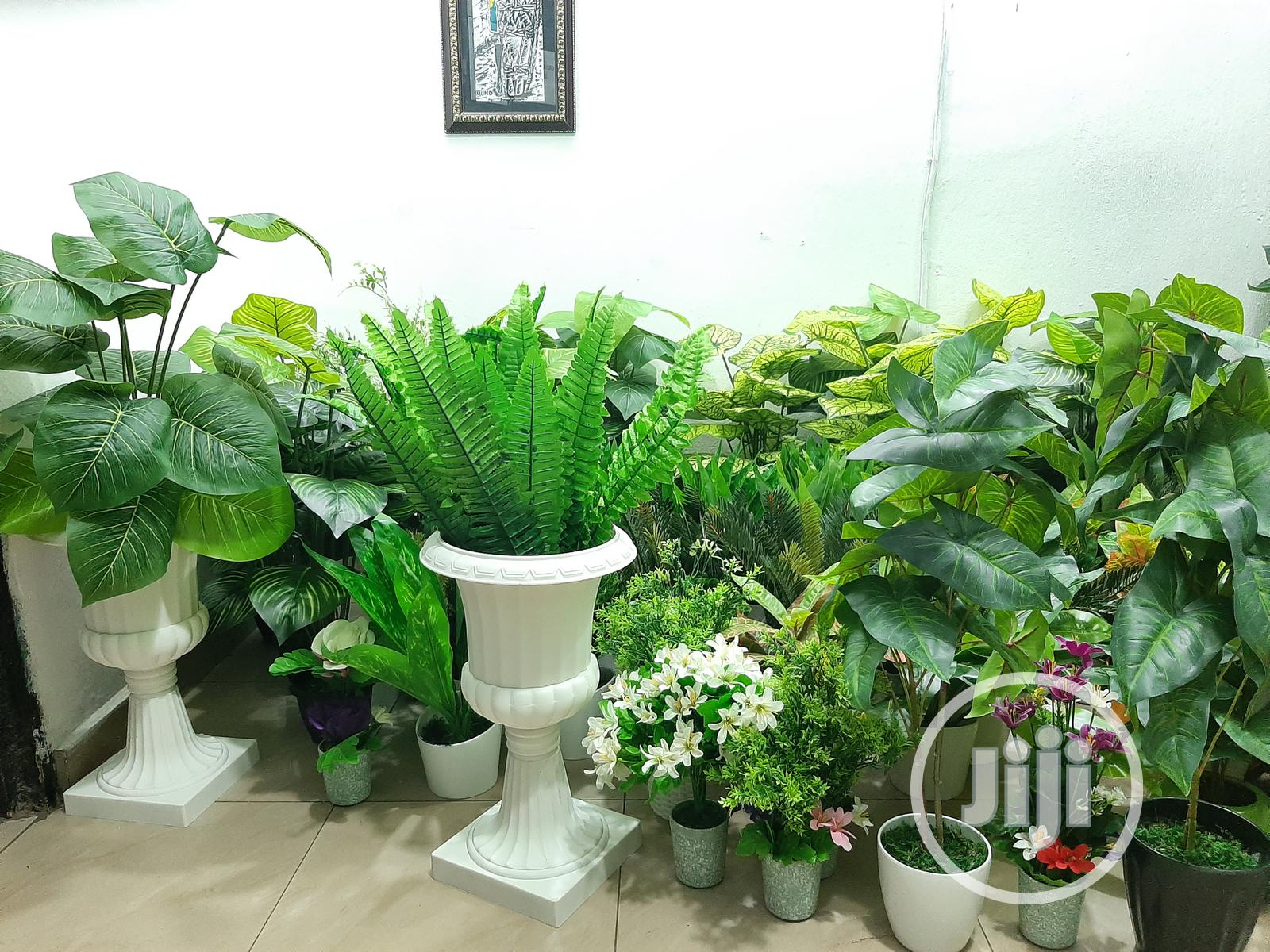 Artificial Plants Flowers Fake Outdoor UV Resistant Plants
