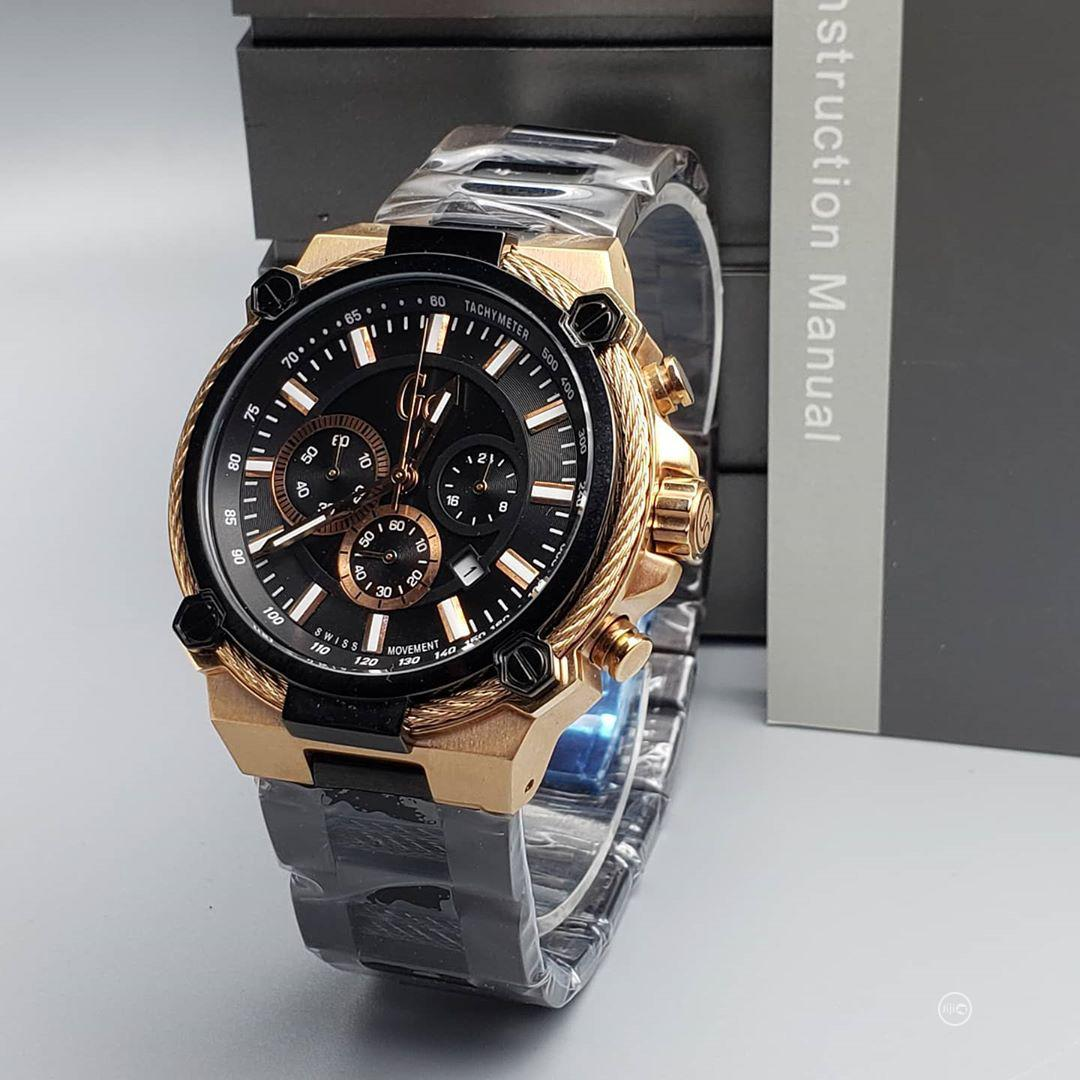 Guess Collection (GC) Chronograph Rose Gold/Black Watch