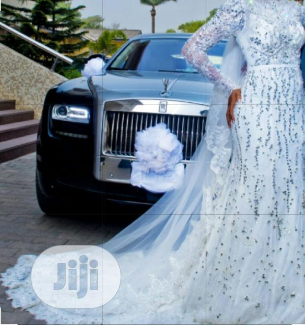 Archive: Designer Crystal Beaded Lace Wedding Gown
